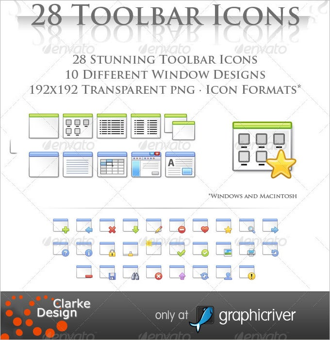 28 toolbar window icons