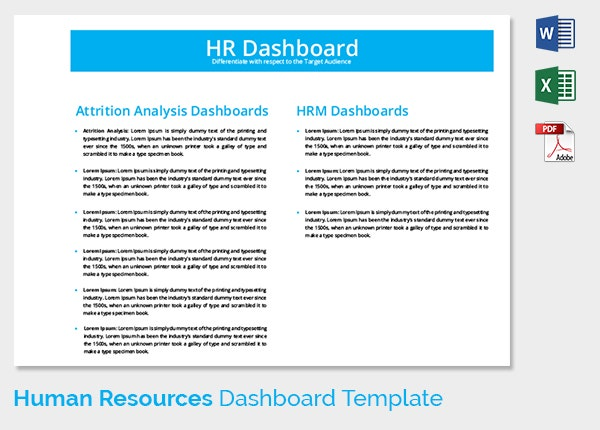 Attrition Analysis HR Dashboard Template