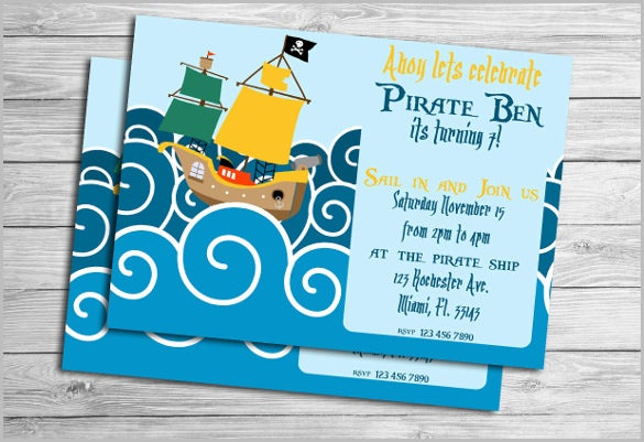 kids invitation under the sea birthday party