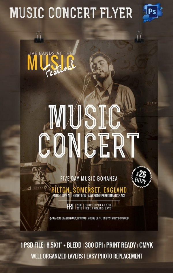 Concert Flyer Template - 35+ PSD Format Download | Free & Premium ...