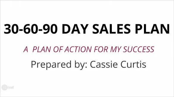 30 60 90 day sales plan template prezi format