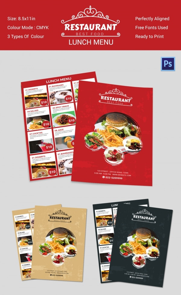 Delicious Lunch Menu Template