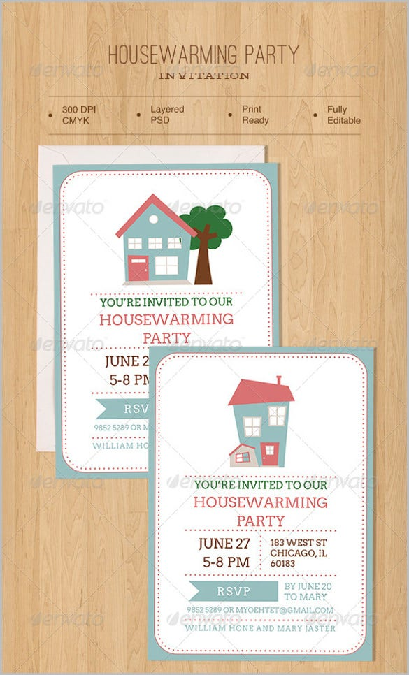 brown housewarming party invitation
