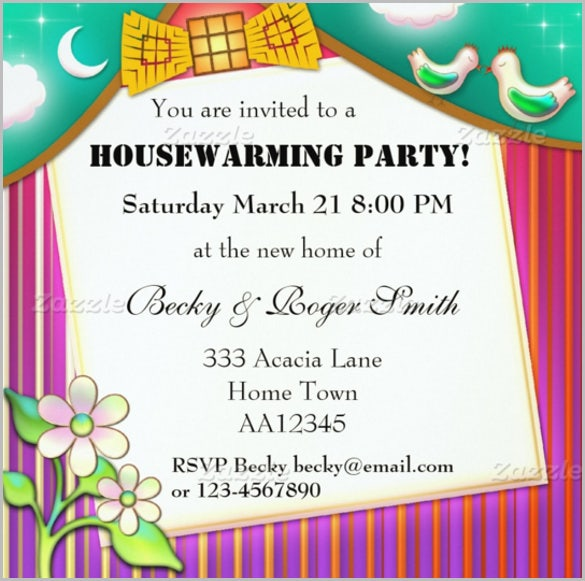 Home Housewarming Party Invitation