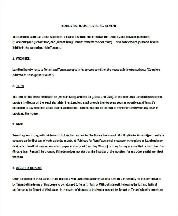 home rental agreement - solarfm.tk