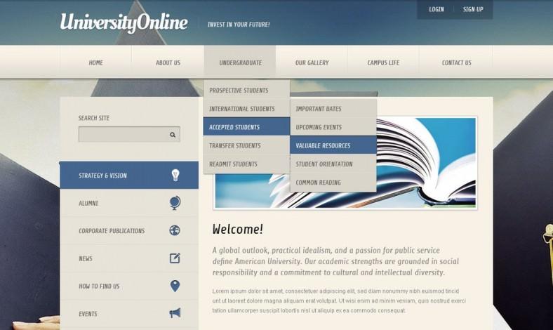 University Joomla Template