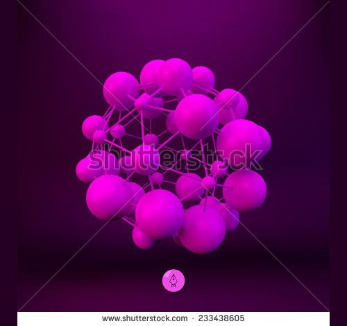 3d molecule scientific poster template