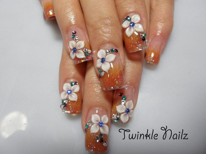 3d Nail Designs Flowers 3d Nail Art Flowers