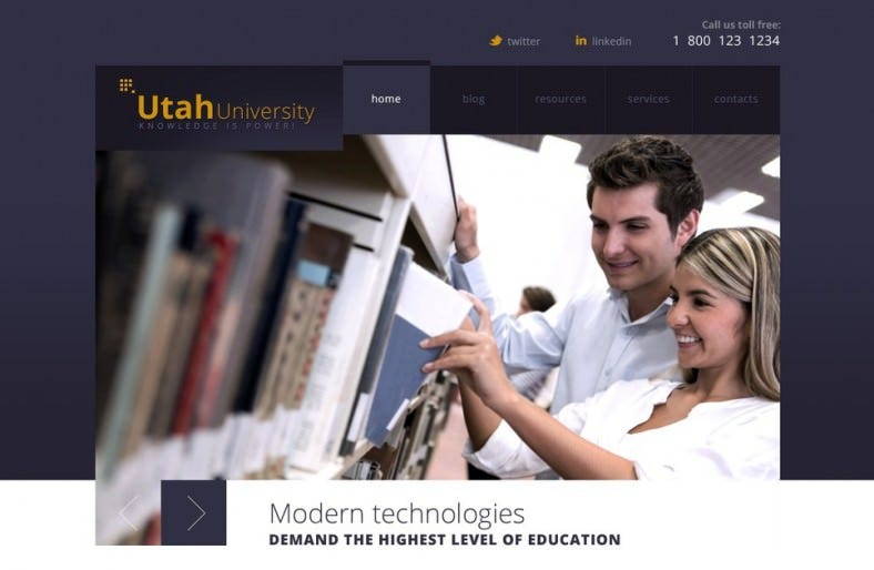 Fully Responsive University Joomla Template