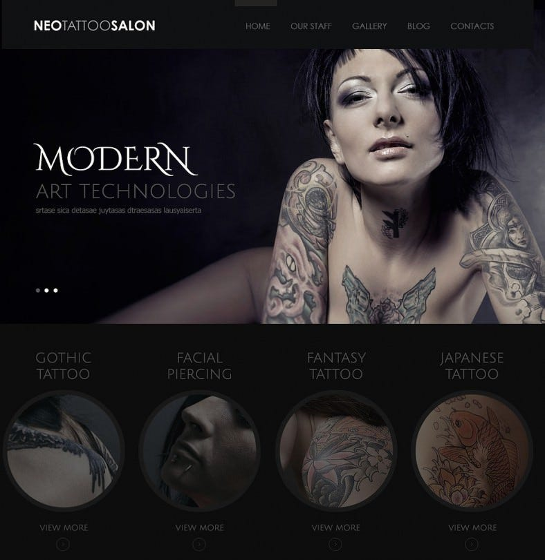Modern Tattoo Art WordPress Theme