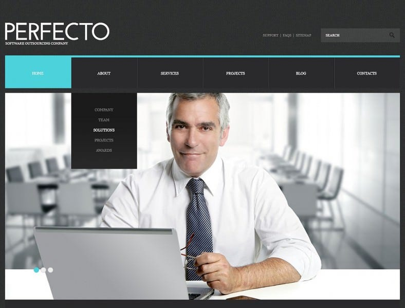 Responsive WordPress Theme for Software Company
