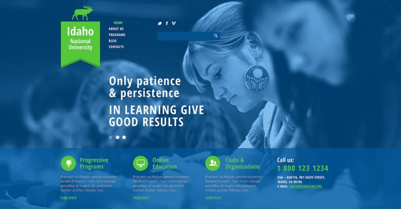 Joomla Template for National University