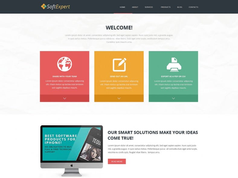 Responsive Joomla Template for Soft Expert