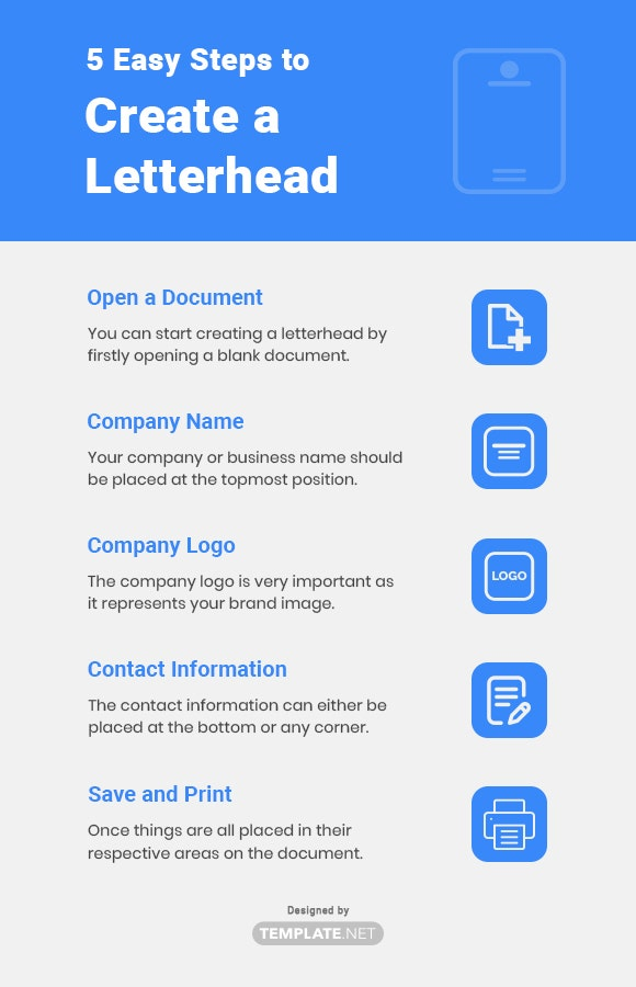 5 easy steps to create a letterhead