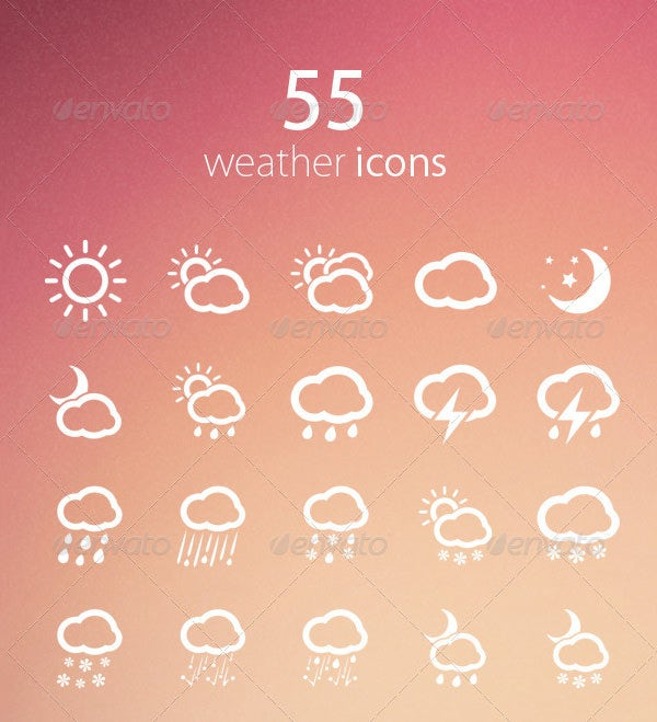 55 beautifu weather icons set
