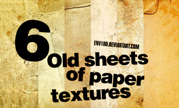 6 old sheets of paper textures 137389311