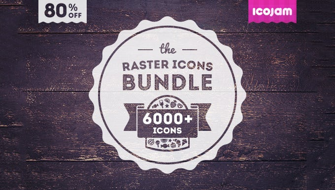 6000 icons in icojam raster bundle