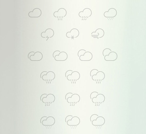 61 outlined weather icons collection