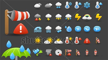 70 awesome weather icons