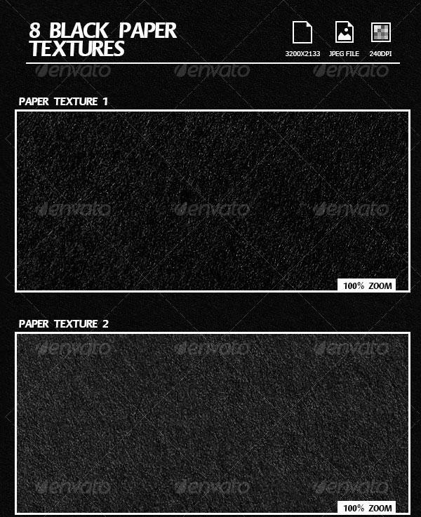 8 black paper textures