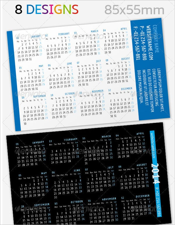 Pocketbook Calendar Template Acurnamedia