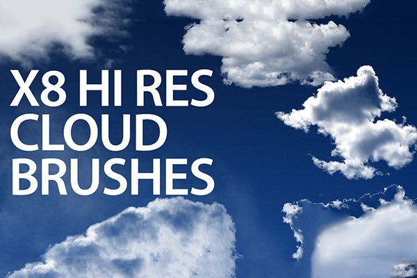 8 photoshop cloud brushes