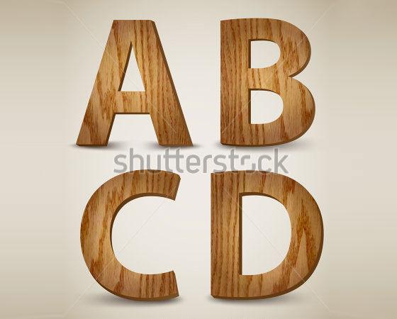 a b c d wooden alphabet letters