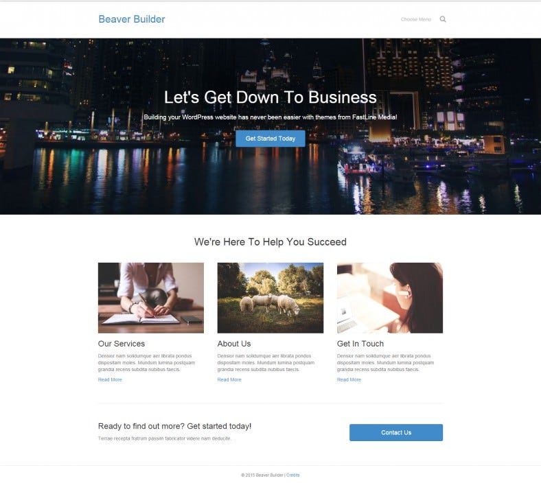 Responsive WordPress Drag & Drop Website
