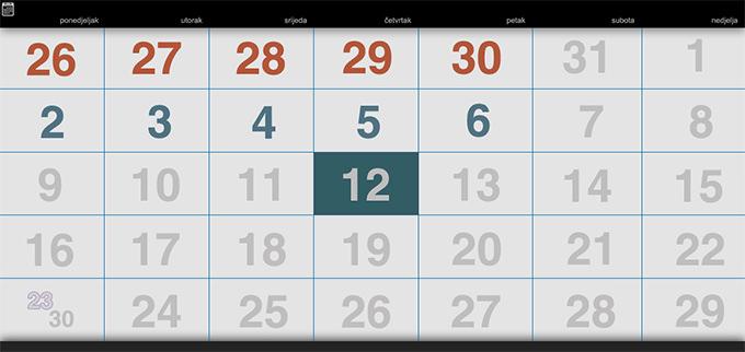 academic web calendar template