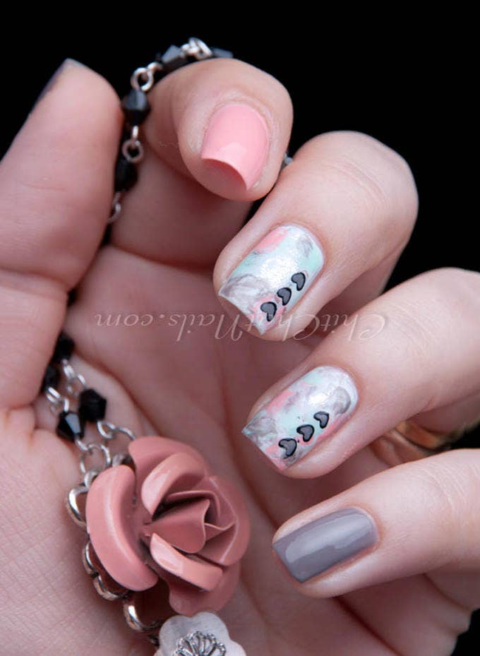 acrylic easter nail art