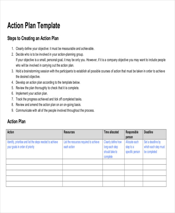 action plan template4