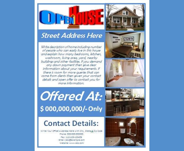 advertising open house flyer template