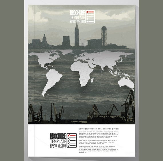 advertising world map poster