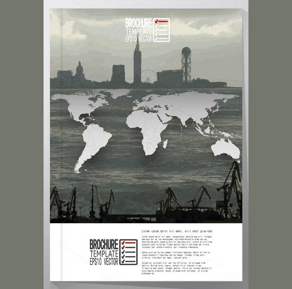 advertising world map poster