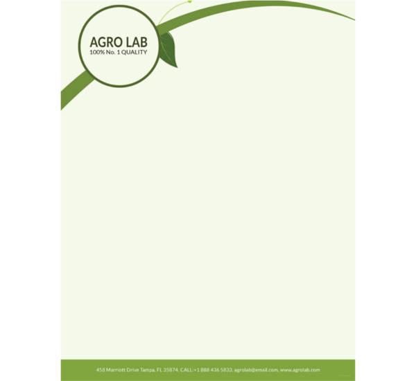 agriculture-letterhead-template