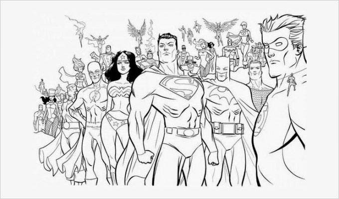 Coloring Pages For Adults Superheroes : Superhero coloring pages free premium
