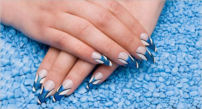amazing gel nail design