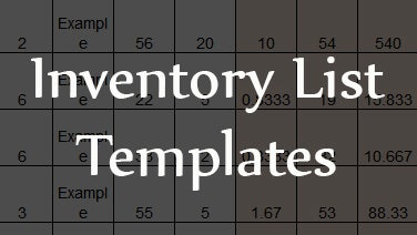 business inventory list template .