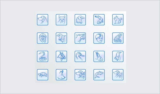 animal desktop icons