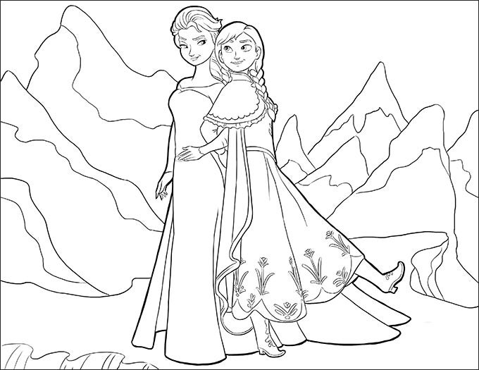 28+ Frozen Coloring Page Templates - Free PNG Format Download Free &  Premium Templates