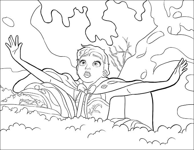 Beautiful Anna Trouble Frozen Coloring Page For Your Kids To Let Them Recreate Their Favorite Animation Movie Scenes This Is Also Idea
