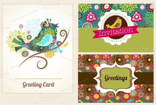 anniversary invitation greeting card template