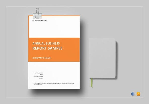 annual business report template in word
