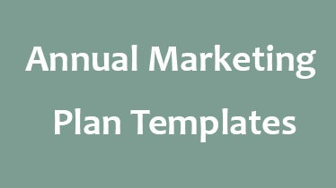 annual marketing plan templates