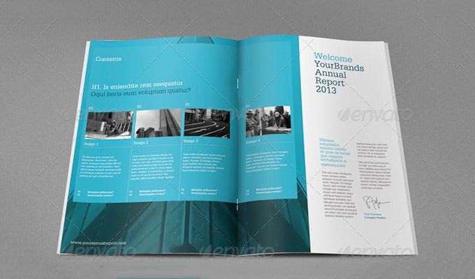 Lovely Annual Report Design Template