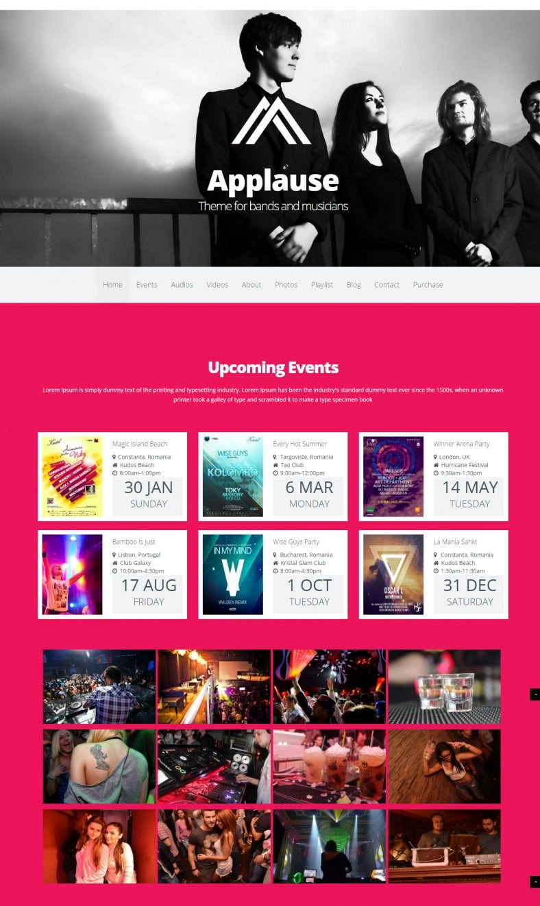 applause responsive music dj wp template 43 788x1323