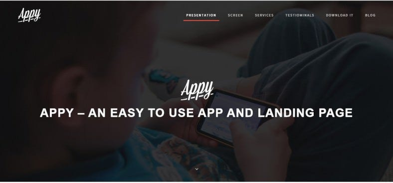 Wordpress App Landing Page Template