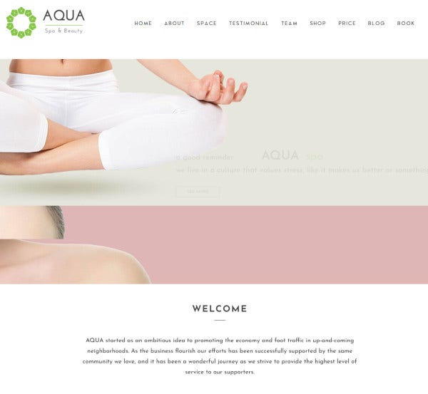 aqua spa beauty joomla virtuemart template