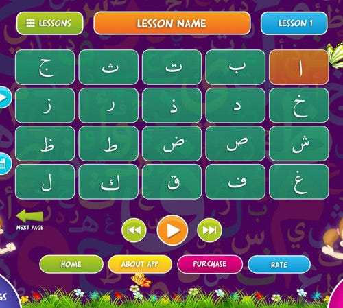 arabic alphabet letter learning lessons