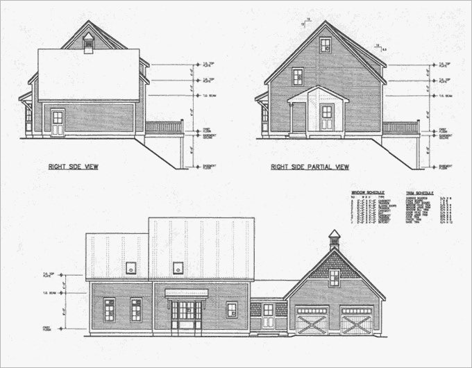 15 free architectural drawings ideas free premium for Building house with side views